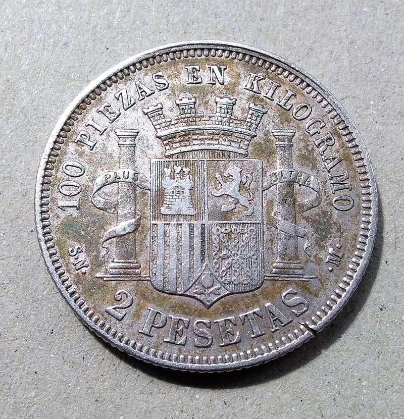 2 pesetas 1869. Gobierno Provisional Img_2185