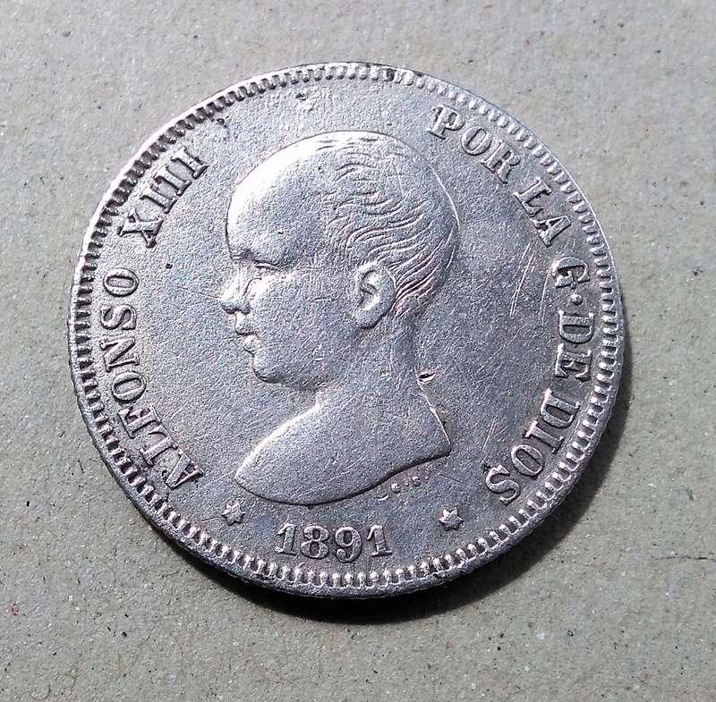 2 pesetas 1891. Alfonso XIII Img_2186