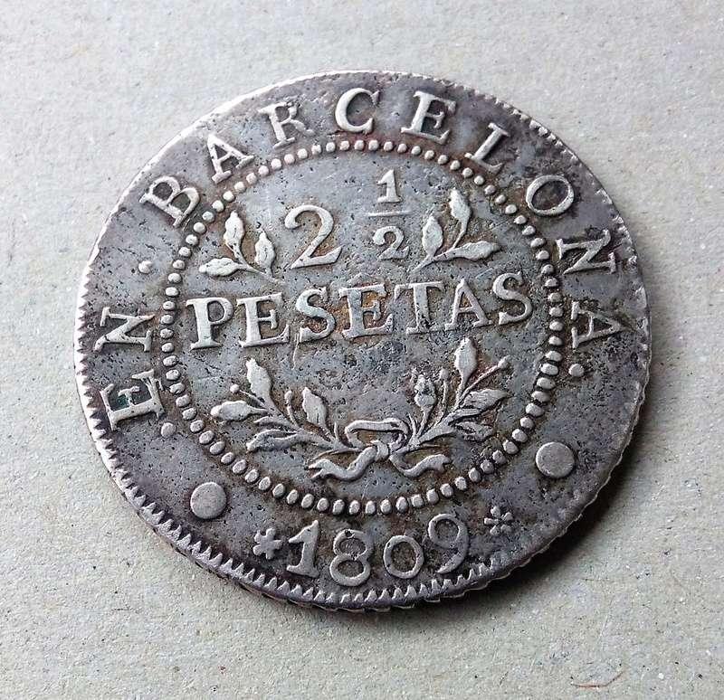 2 1/2 pesetas de 1809. José I. Barcelona. Ocupación francesa. Img_2192