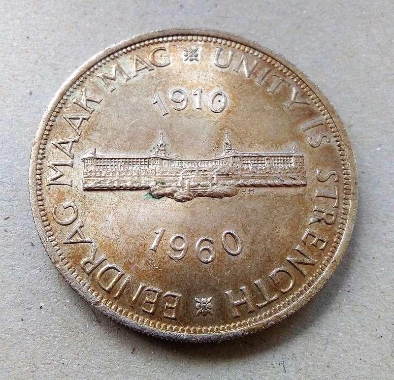 Conmemorativa: 5 Shillings, Sudáfrica, 1960 Img_2196