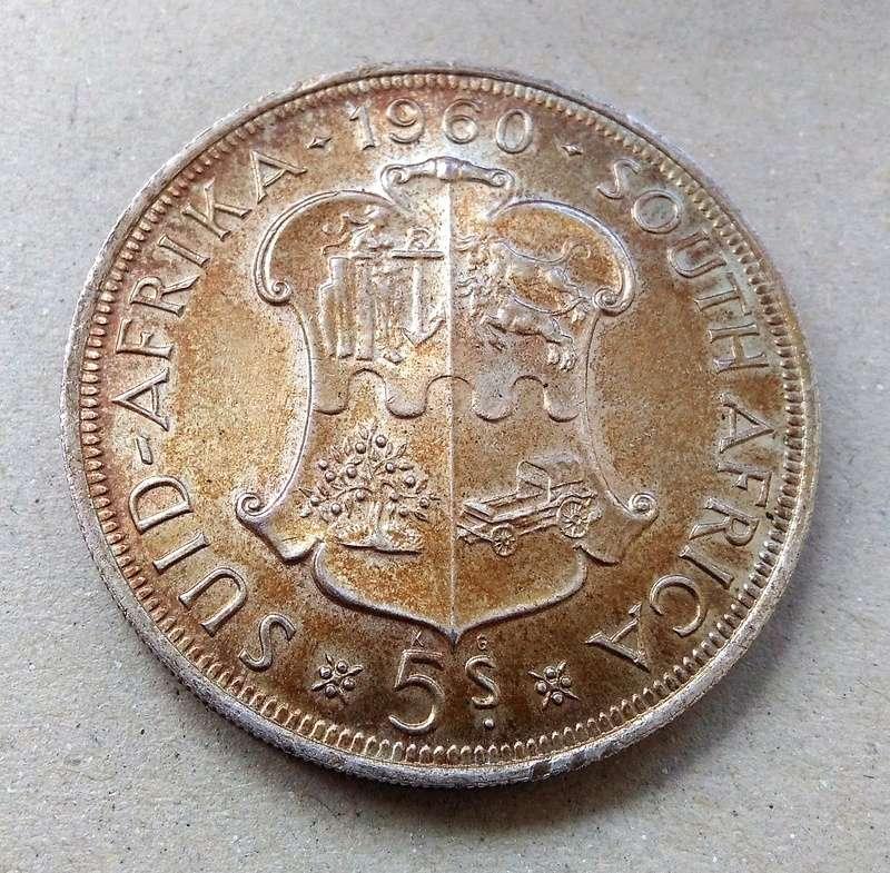 Conmemorativa: 5 Shillings, Sudáfrica, 1960 Img_2197