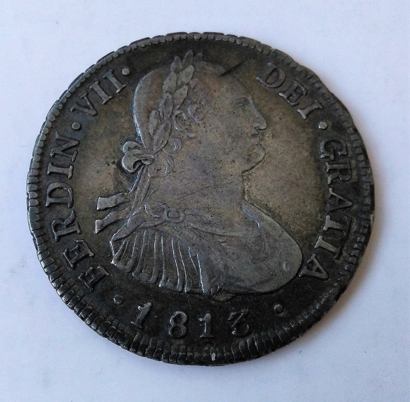 4 reales 1813. Fernando VII. Santiago de Chile Img_2202