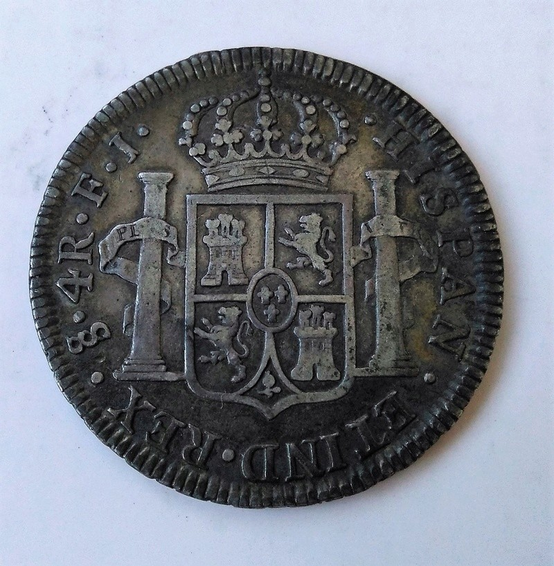 4 reales 1813. Fernando VII. Santiago de Chile Img_2203