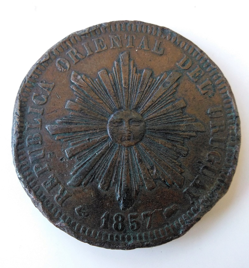 40 centésimos, Uruguay, 1857 - Dedicado a Sol de Cabellera Img_2204