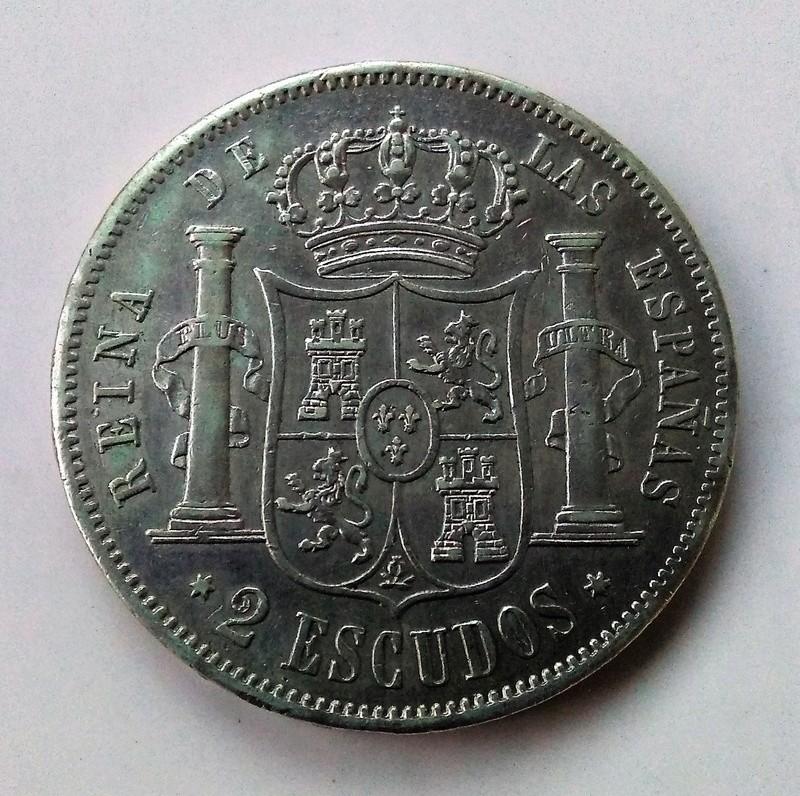 2 escudos 1867. Isabel II. Madrid Img_2214