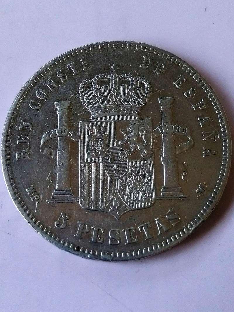 5 pesetas 1890. Alfonso XIII. MPM Img_2226