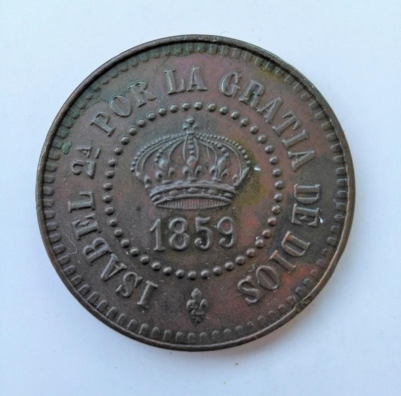 Prueba de 2 centavos o cuartos 1859. Isabel II. Manila Img_2229