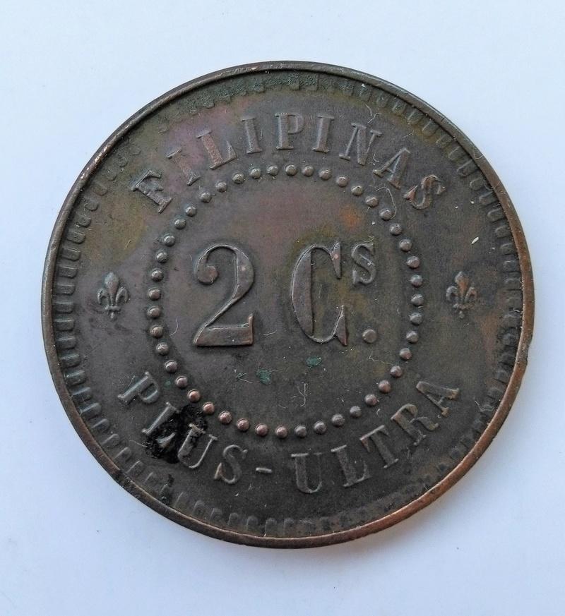 Prueba de 2 centavos o cuartos 1859. Isabel II. Manila Img_2230
