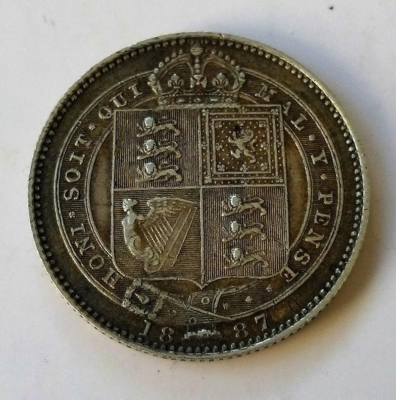 1 shilling (chelín) de la reina Victoria, Gran Bretaña, 1887 Img_2252