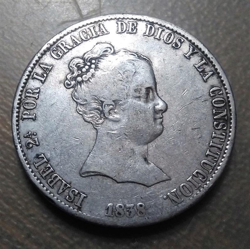 20 reales 1838. Isabel II. Madrid Img_2271