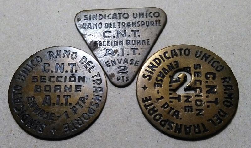 GUERRA CIVIL EN CATALUÑA: Monedas de emergencia y necesidad. Img_2298