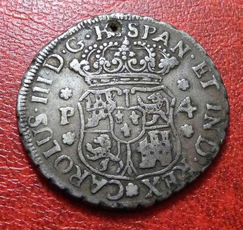 4 reales de 1770, Carlos III - Guatemala Img_2311