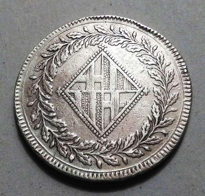 5 pesetas 1809. Barcelona. Ocupación francesa Img_2314