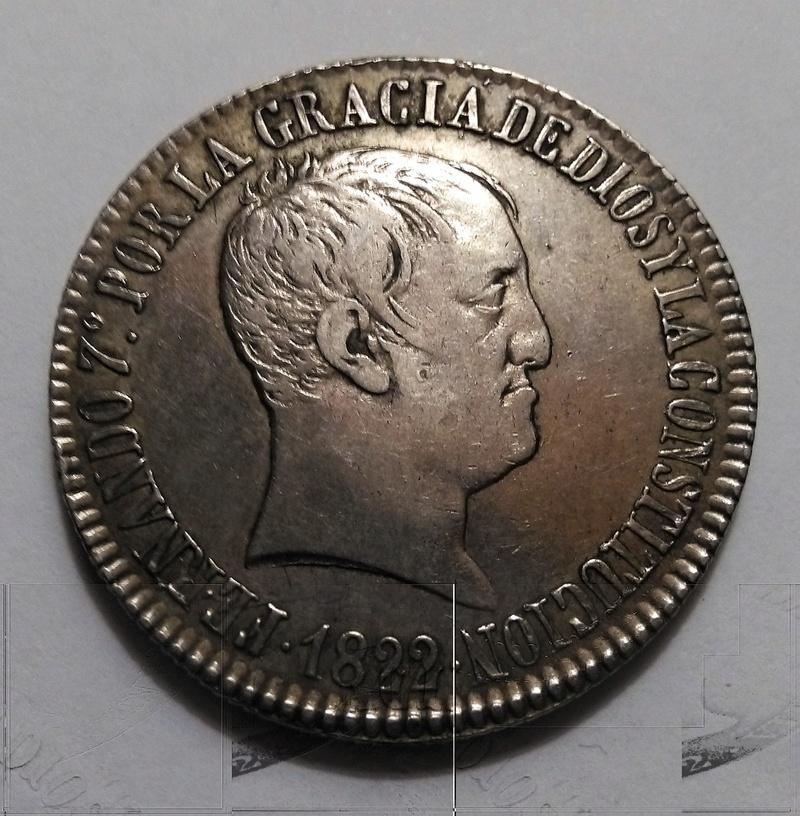 20 reales 1822. Fernando VII. Sevilla Img_2322