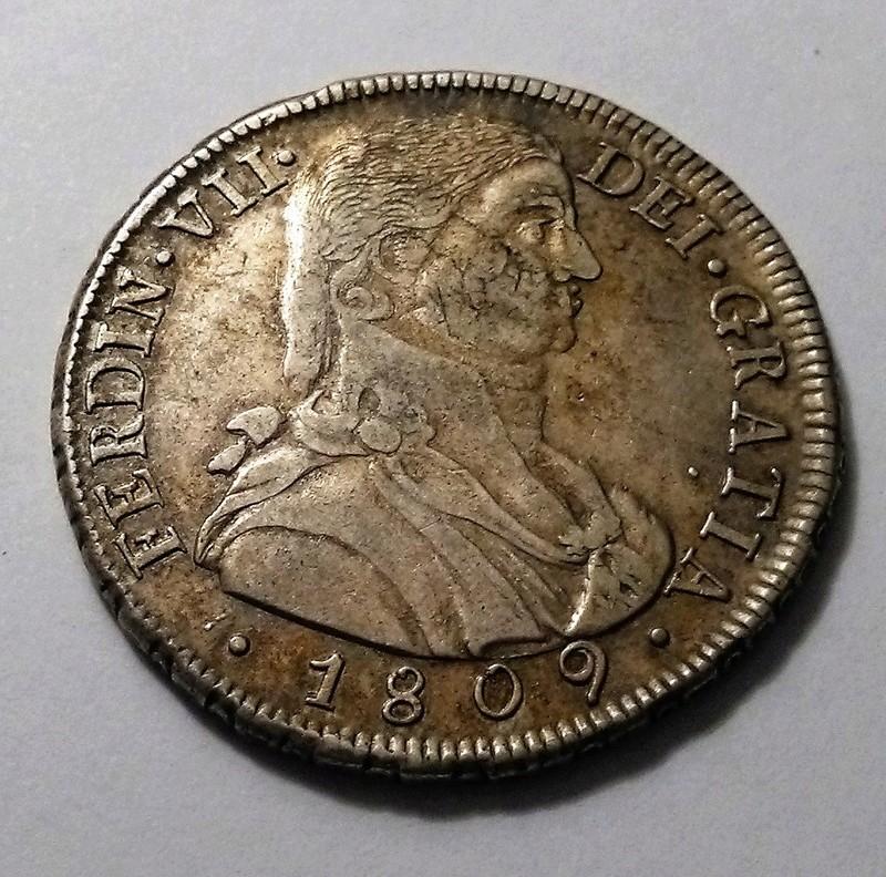 8 reales de 1809. Fernando VII. Santiago de Chile. Busto Almirante. Dedicado a Blas de Lezo Img_2392