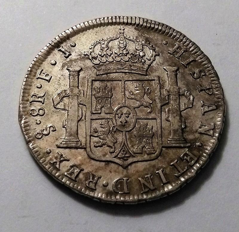 8 reales de 1809. Fernando VII. Santiago de Chile. Busto Almirante. Dedicado a Blas de Lezo Img_2393