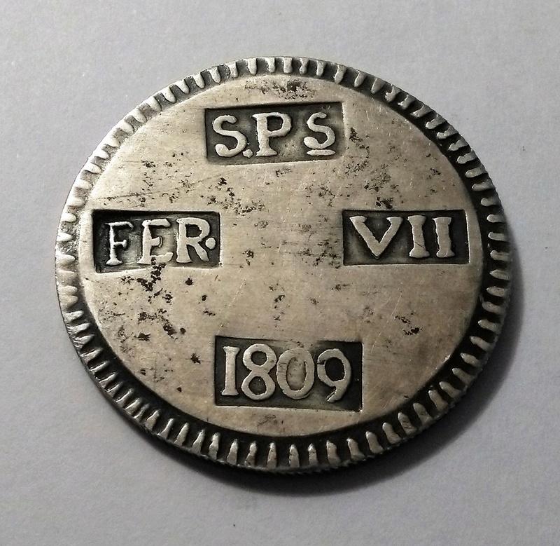 5 pesetas, 1809 - Fernando VII, Lérida Img_2399