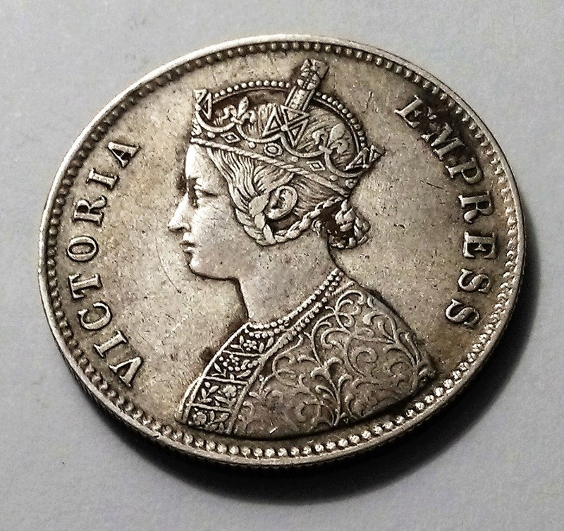 1 Rupia de 1877, Reina Victoria - Alwar (India Británica) Img_2440