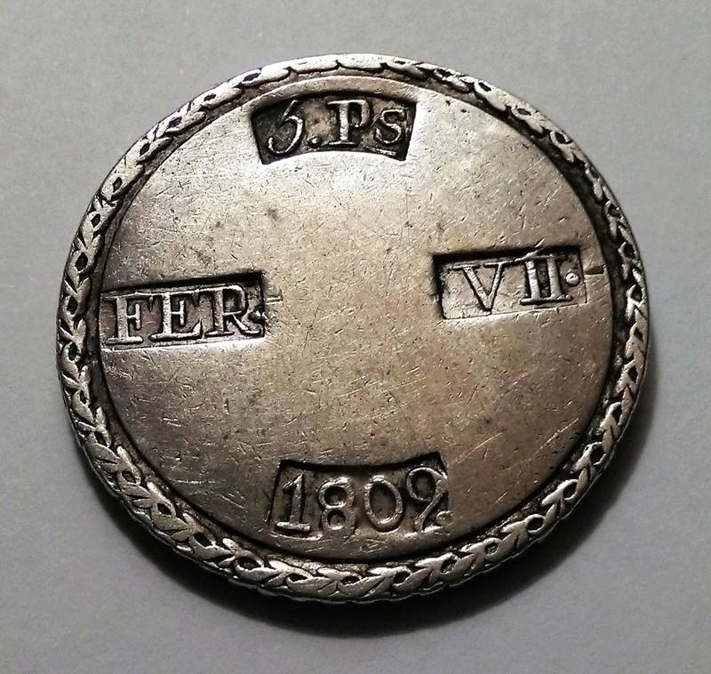 5 pesetas 1809. Fernando VII. Tarragona Img_2447