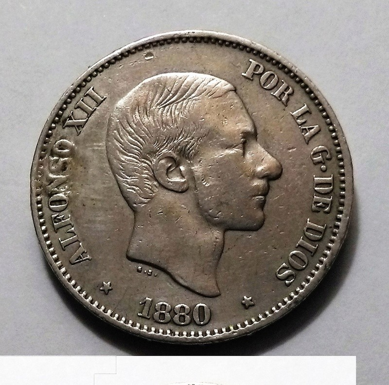 50 centavos de peso. 1880. Alfonso XII. Manila Img_2449