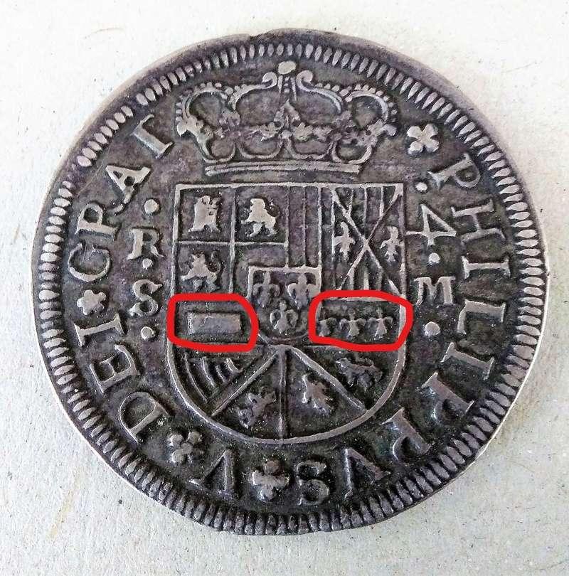 4 reales de Felipe V, Sevilla 1718 - M. Dedicado a Lanzarote Inkedi10