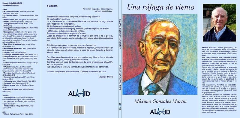 """Antología de Máximo González Martín: """"Una ráfaga de viento"""" Myyxim10"""