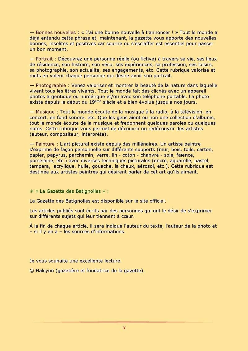 La Gazette des Batignolles n°1 Gazett12
