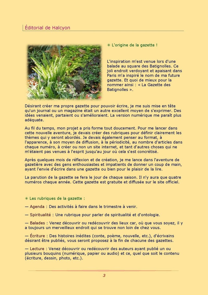 La Gazette des Batignolles n°1 Gazett13
