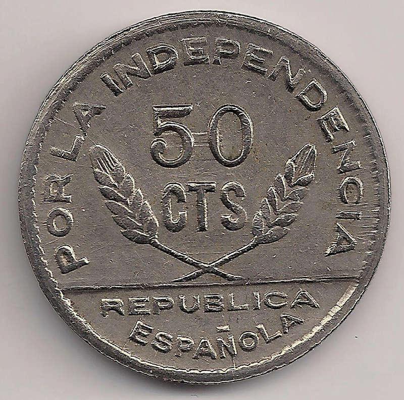 Prueba de oro de los 50 Cts. del Consejo de Santander, Palencia y  Burgos Tipo_410