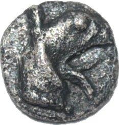 Tetartemorion de plata, Teos, Jonia; 500-447 a.C. 26410