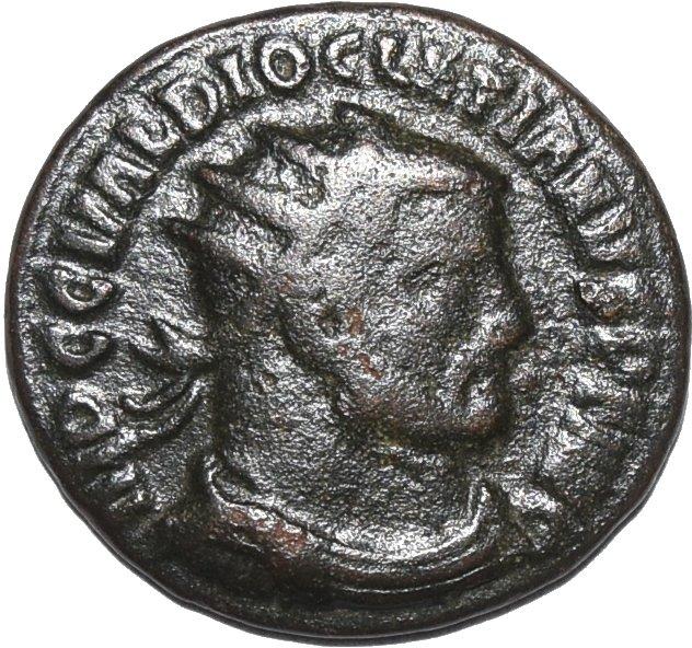 Radiado post-reforma de Diocleciano. CONCORDIA MILITVM. Heraclea  26910