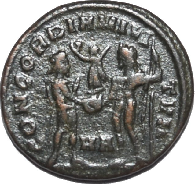 Radiado post-reforma de Diocleciano. CONCORDIA MILITVM. Heraclea  269a10
