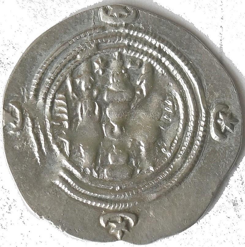 Dracma de Cosroes II. 276c10