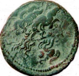 Æ20. Reinado conjunto entre Ptolomeo VI y VIII. Alejandría, Siglo I a.C. 27910