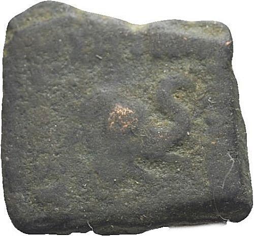Unit de cobre. Menandro I. 166/55-130 a.C. Rey de Bactria 28010