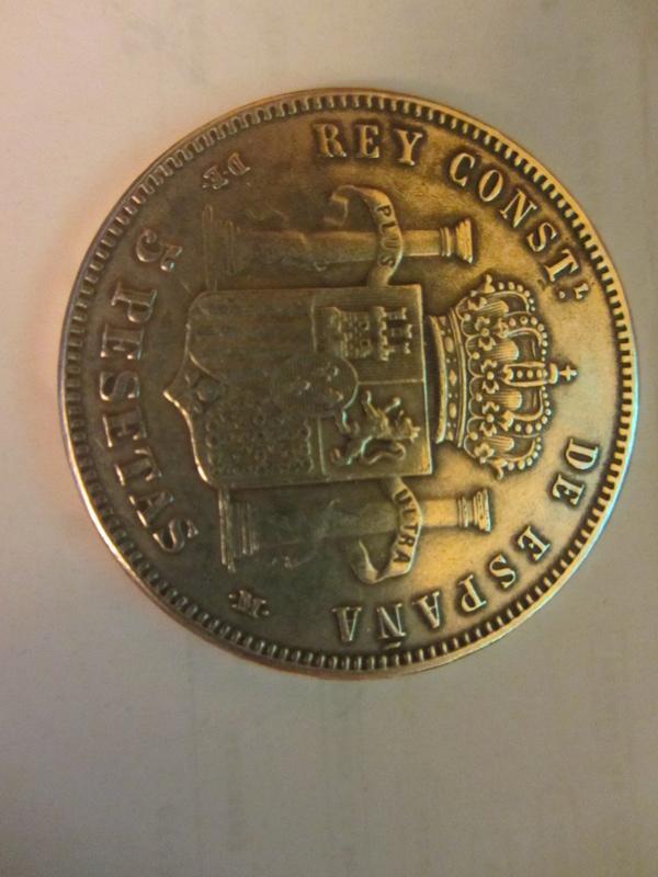 5 pesetas 1871 (*18-73). Amadeo I. Opinión Img_4712