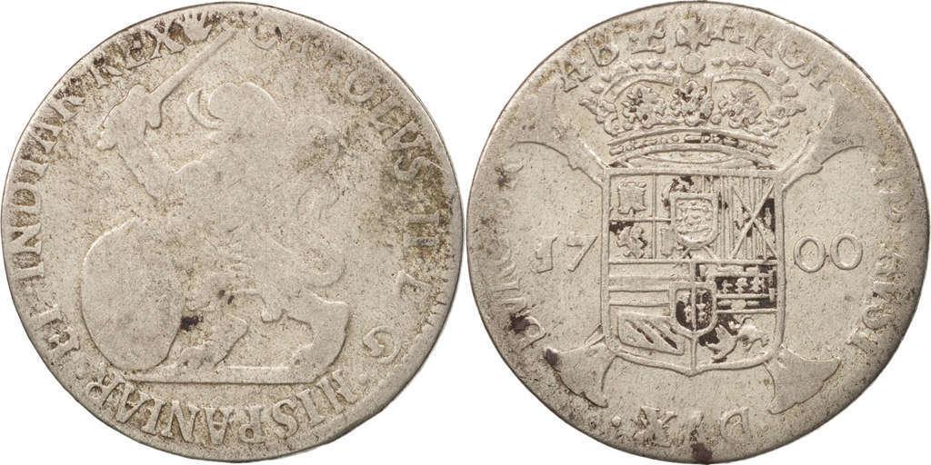 1 Escalin Carlos II,ceca de Amberes-1700. 210