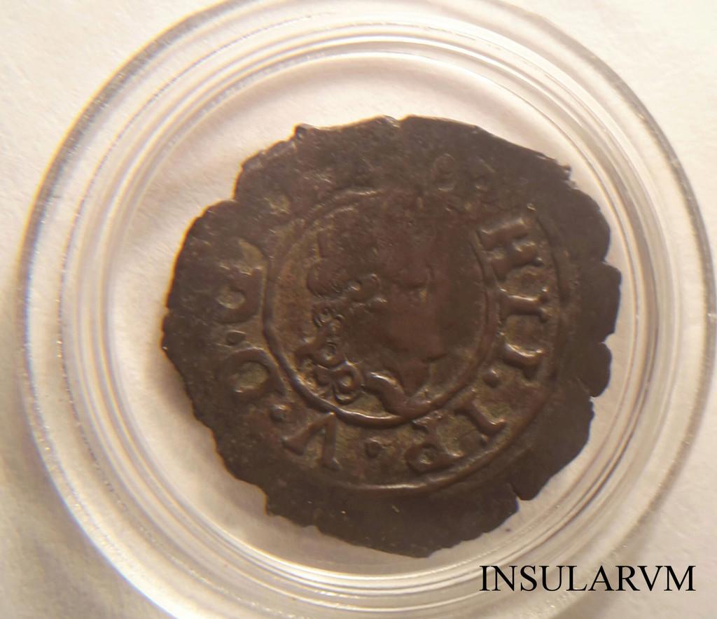 Dinero Aragón, Felipe V 1713. 2it52x10