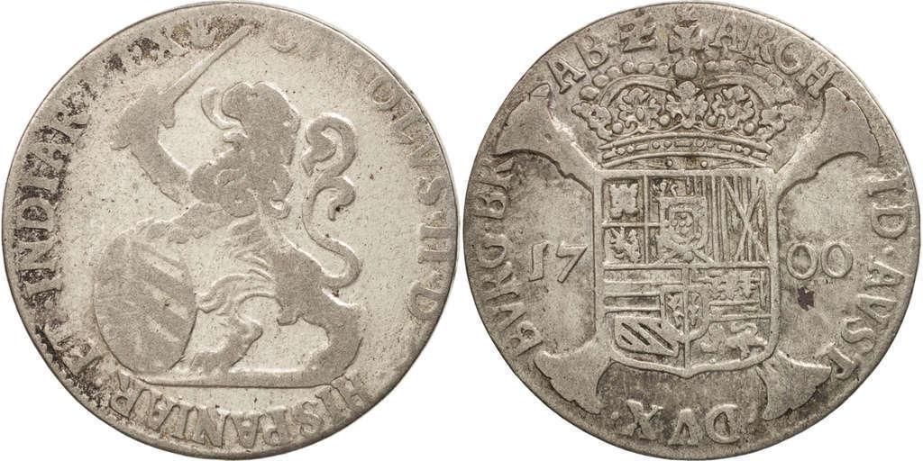 1 Escalin Carlos II,ceca de Amberes-1700. 411