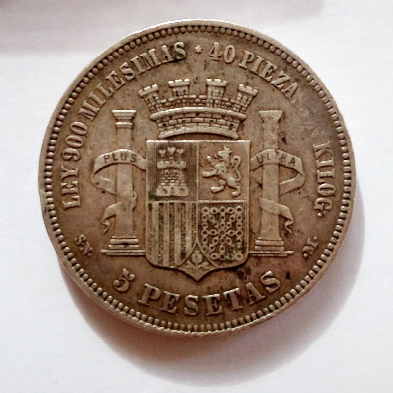 5 pesetas 1870. Gobierno Provisional 5pts-110
