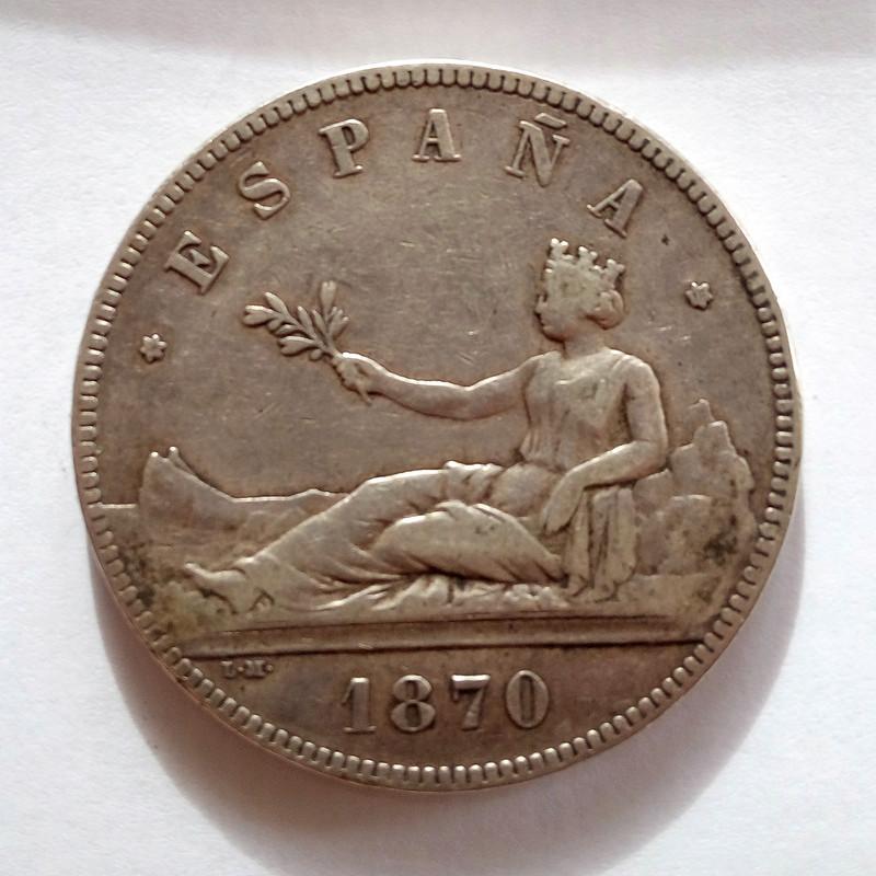 5 pesetas 1870. Gobierno Provisional 5pts-112