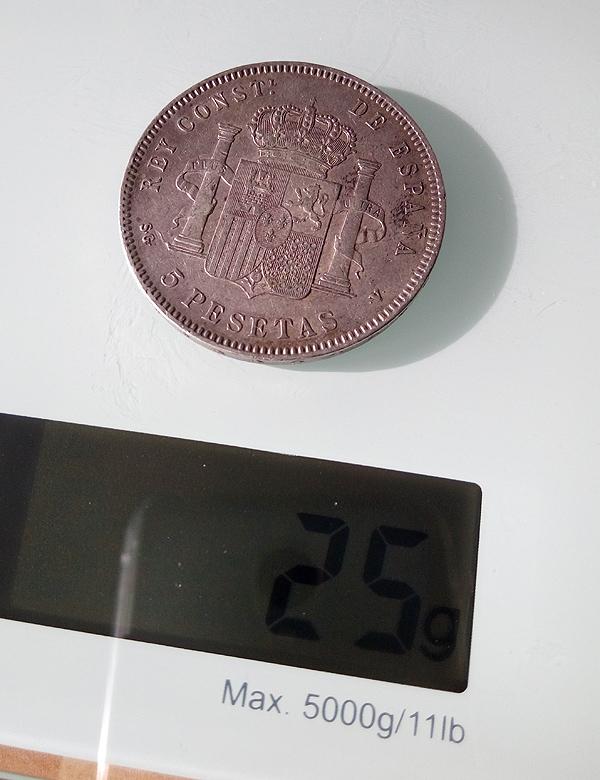 5 pesetas 1898. Alfonso XIII 5pts-113