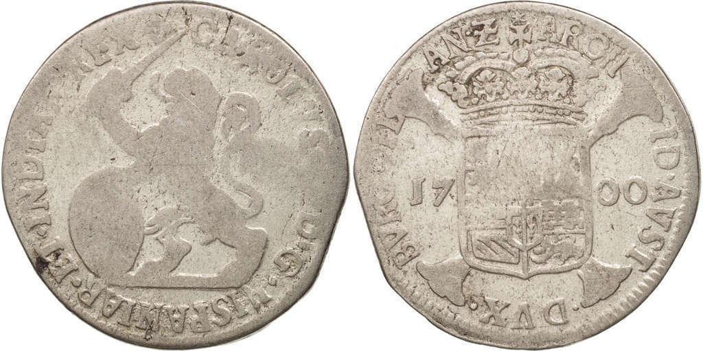 1 Escalin Carlos II,ceca de Amberes-1700. 611