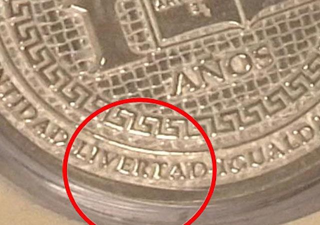 Se dan diputados de Zacatecas onzas de plata con error ortográfico 81758-10