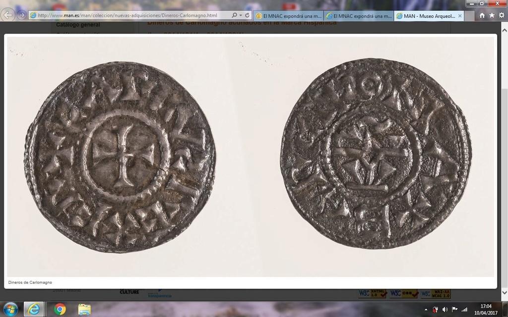 El MNAC expondrá una moneda de Carlomagno Captur12