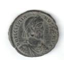 AE1 de Juliano II. SECVRITAS REI PVB.  Arlés Iulian10