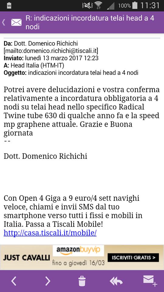 Head Italia mi ha risposto!!!!  Head_110