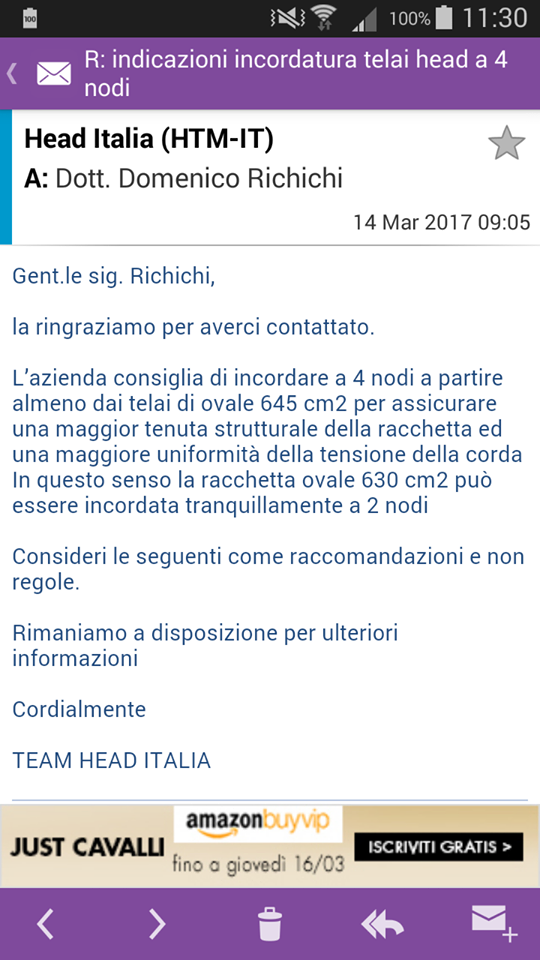 Head Italia mi ha risposto!!!!  Head_210