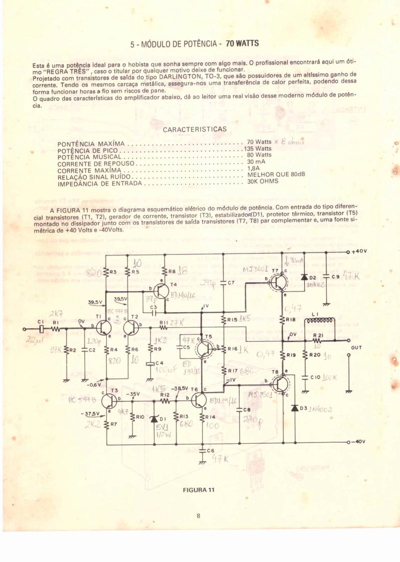 Layout para amplificador Darlington 70 w Foto_110