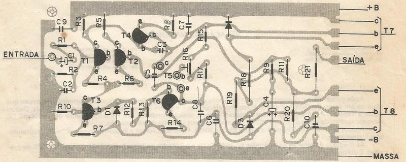 Layout para amplificador Darlington 70 w Foto_311